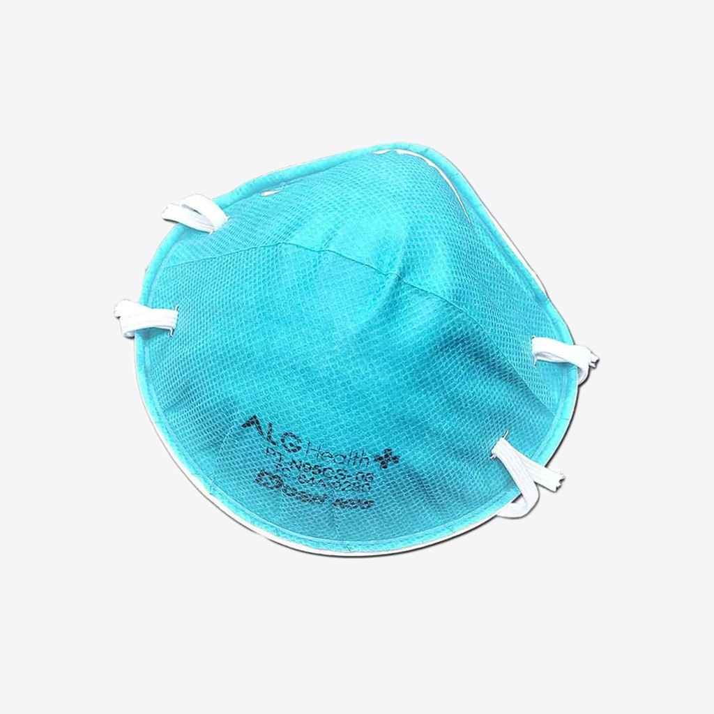 Molded N95 respirator with metal nosepiece