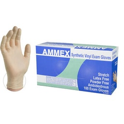 [GS00016] AMMEX Stretch Synthetic Vinyl PF Exam Gloves